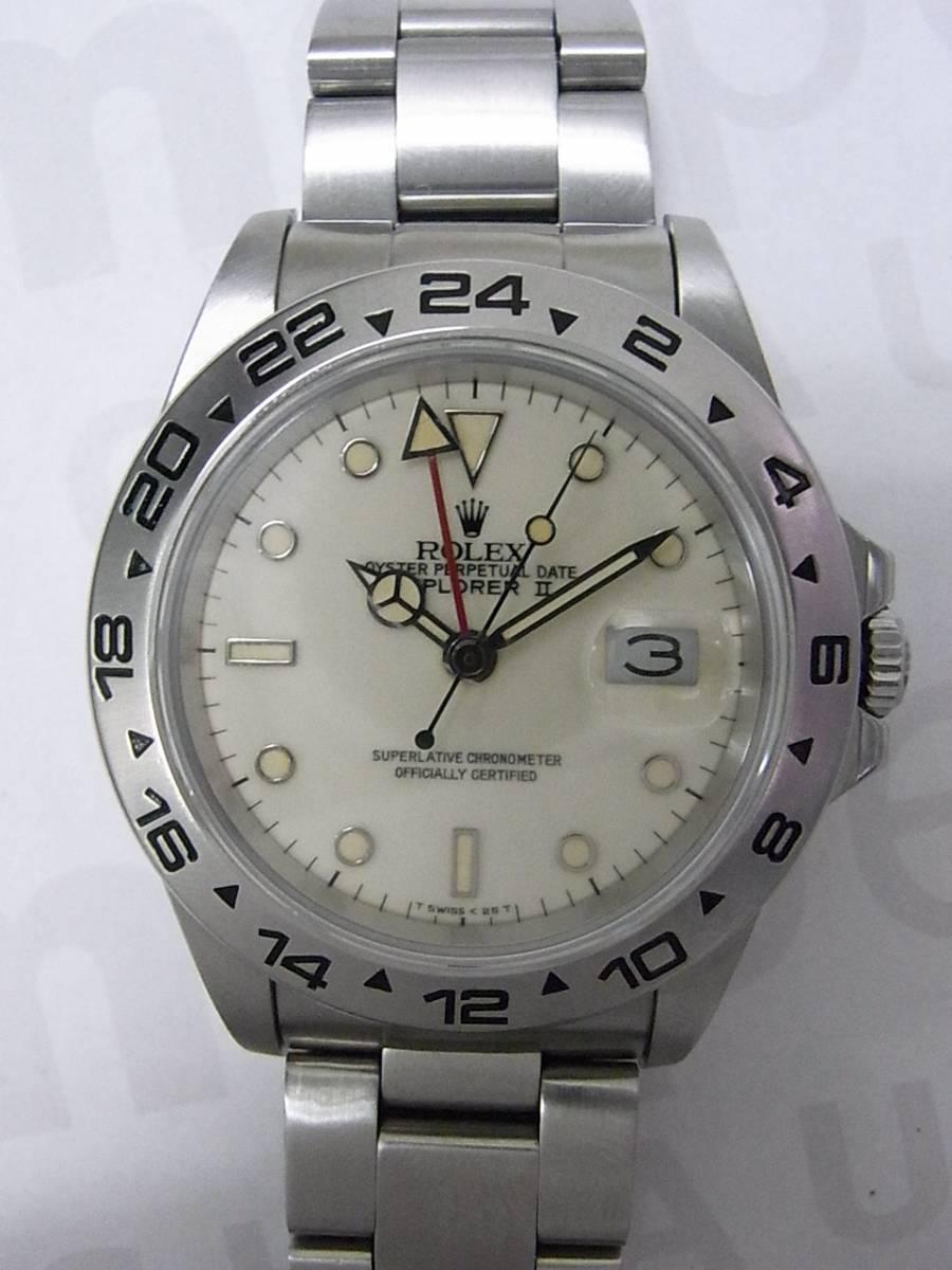 finest selection c9cf8 484d9 中古のロレックス エクスプローラー2 16550 を販売 使用感の ...
