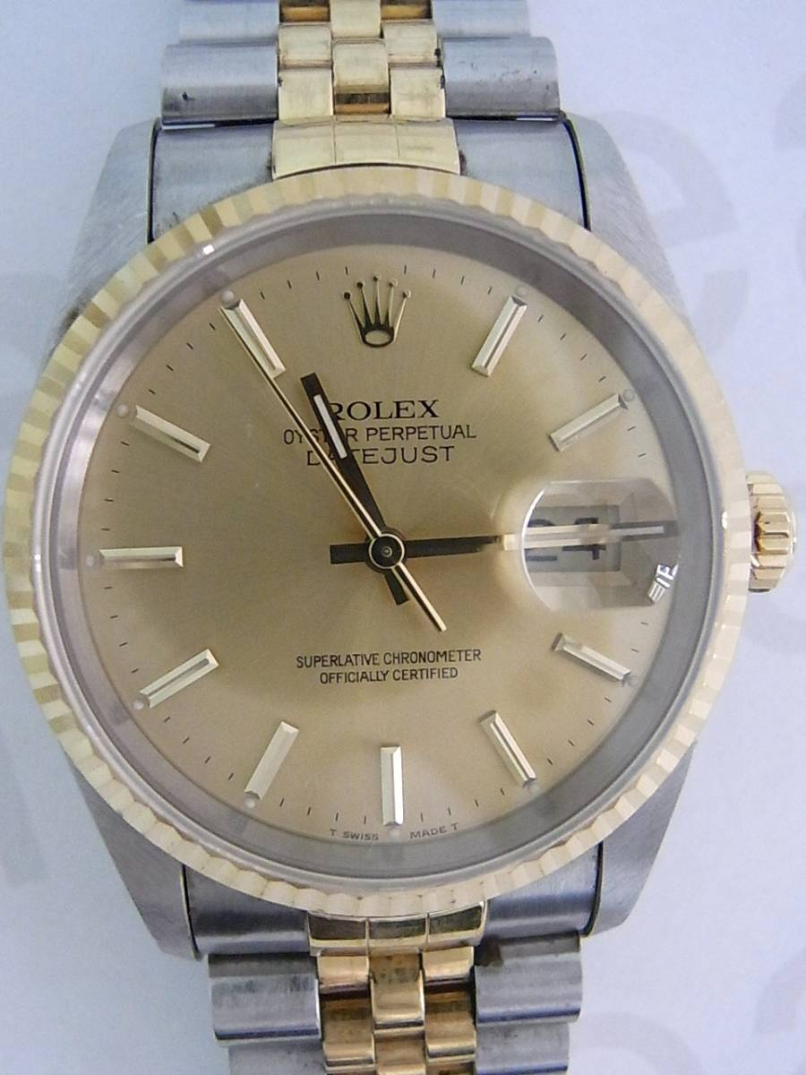 00358135bad Rolex datejust 16233 relógio usados (€396) - Timepeaks