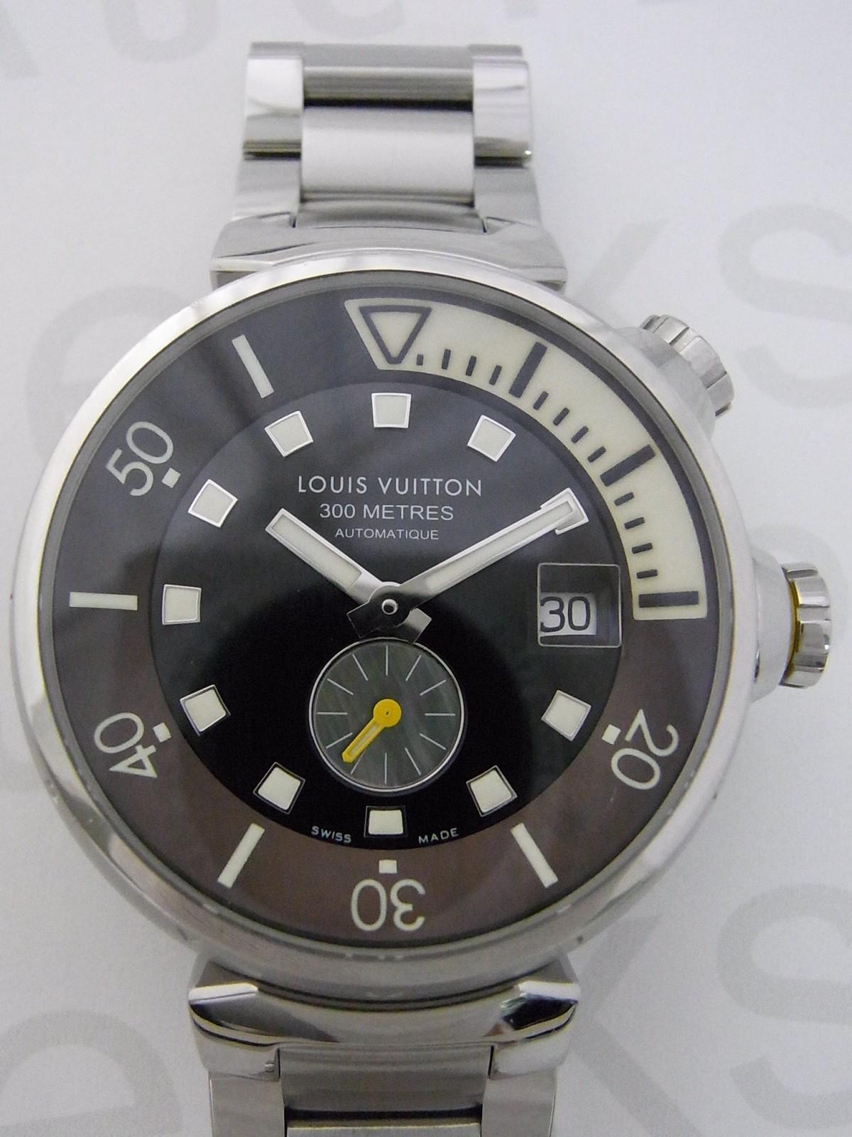 Montres Louis Vuitton tambour diving Q1031 d occasion (€453) - Timepeaks c8f0c2f6b15