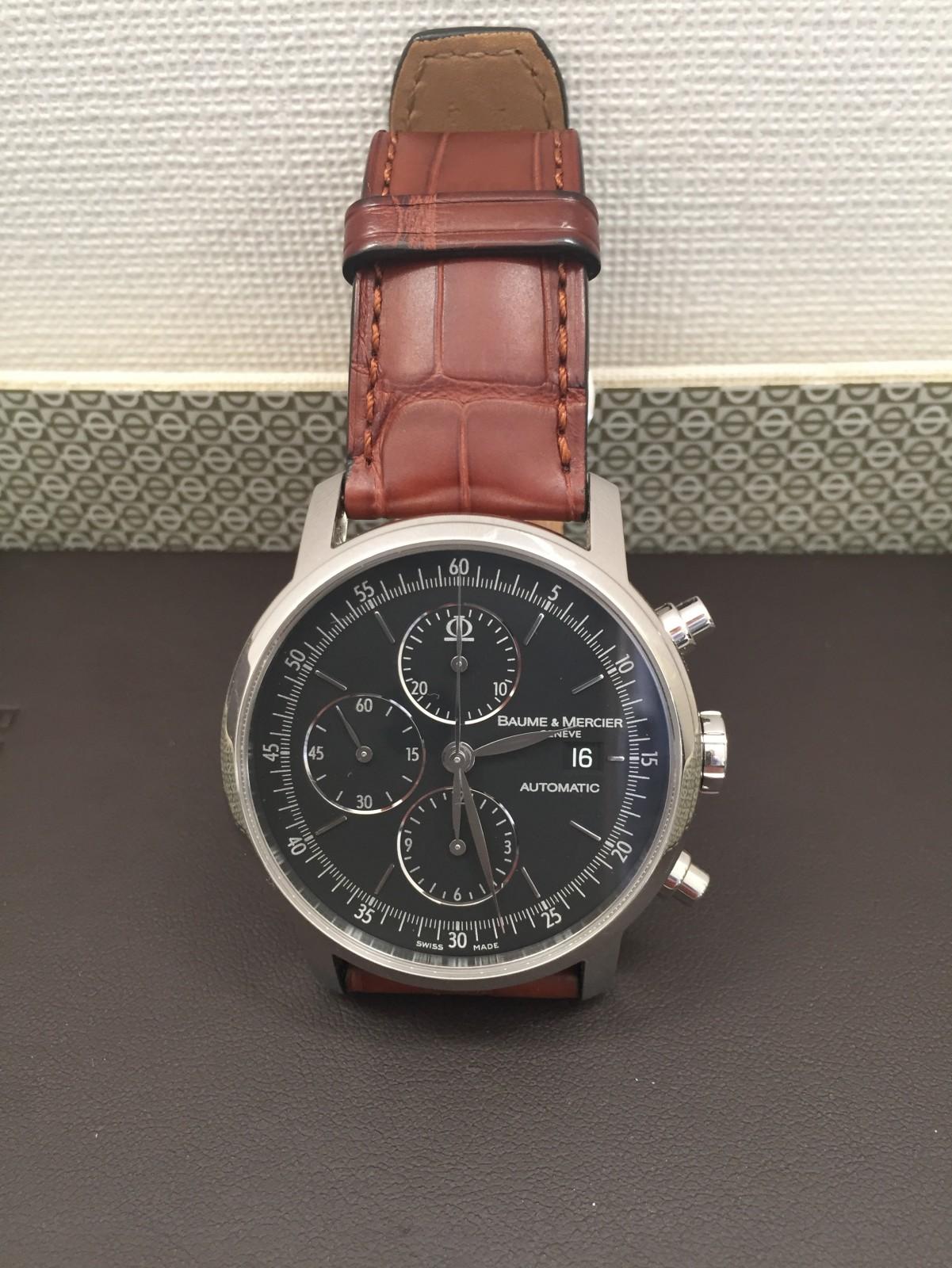 gebrauchte baume mercier classima chronograph moa8589 uhren zum verkauf 550 timepeaks. Black Bedroom Furniture Sets. Home Design Ideas