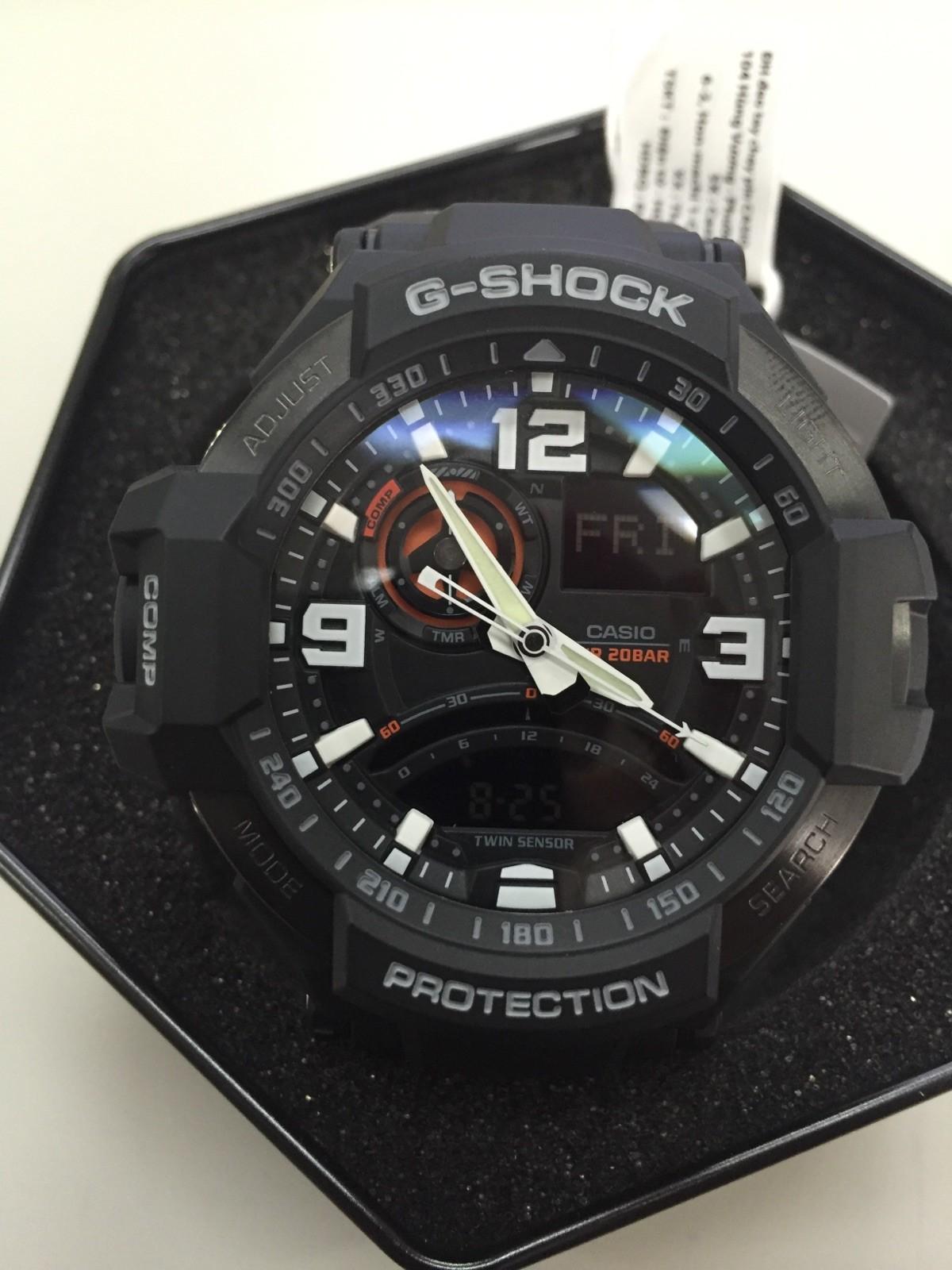Nuevodesgastado Reloj Casio Gshock Gravity Master Ga 1000 1adr En G Shock Twin Sensor Nuevos Relojes