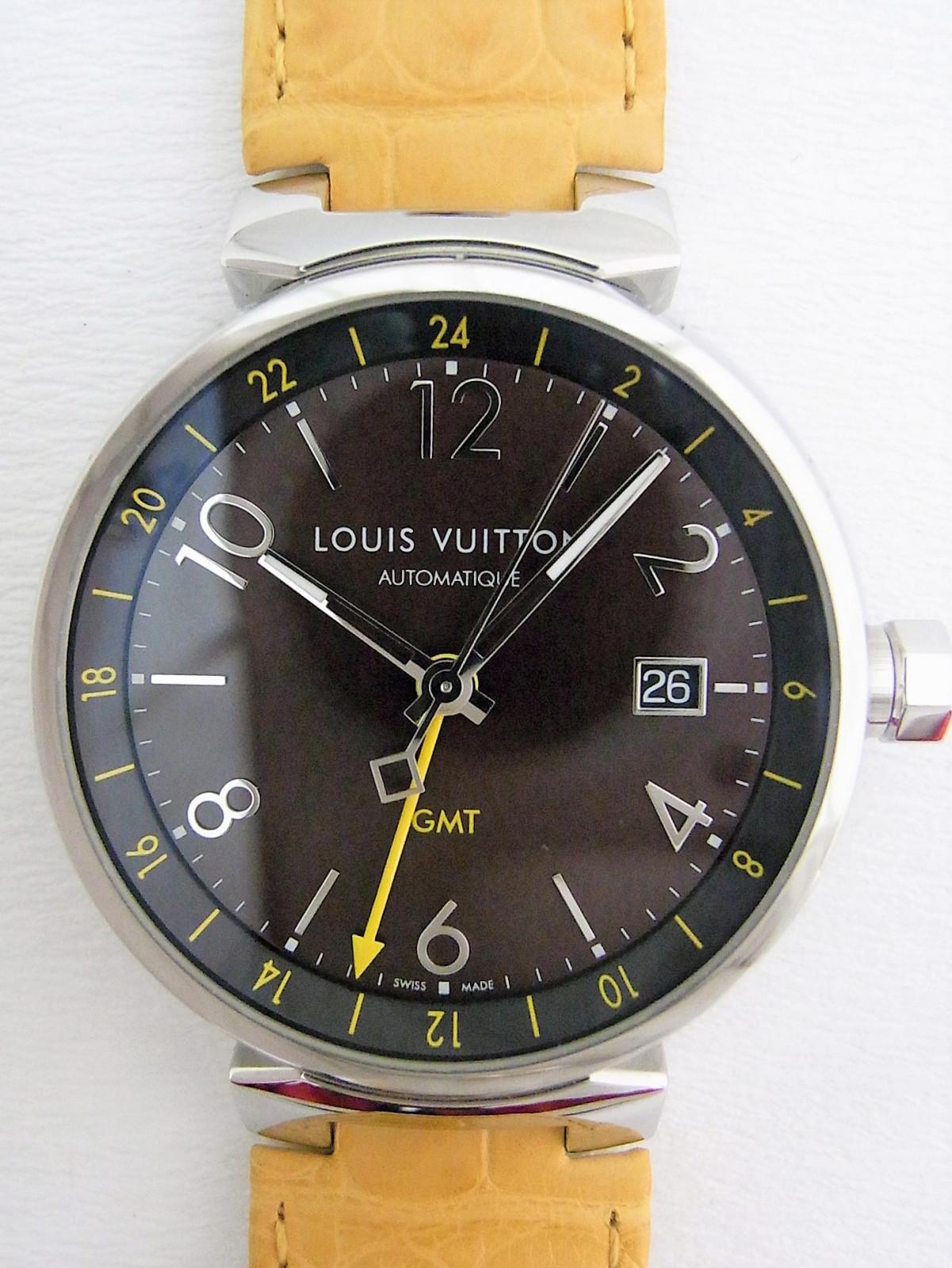 f175454d558 Louis Vuitton Tambour GMT Q1155Z relógio usados (€990) - Timepeaks