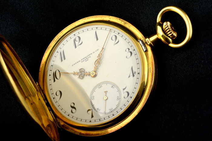 Pre-owned Patek Philippe Antique Pocket Watch Hunter 18k Patek ...