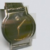 Movado Genuine beautiful for ladies 15,000 yen Black Dial Stylish shape watch