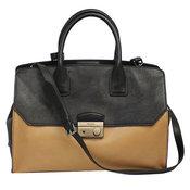 eb00bf577a38b Prada  New  2 WAY Hand   Shoulder Bag Natural × Black Calf Leather BN