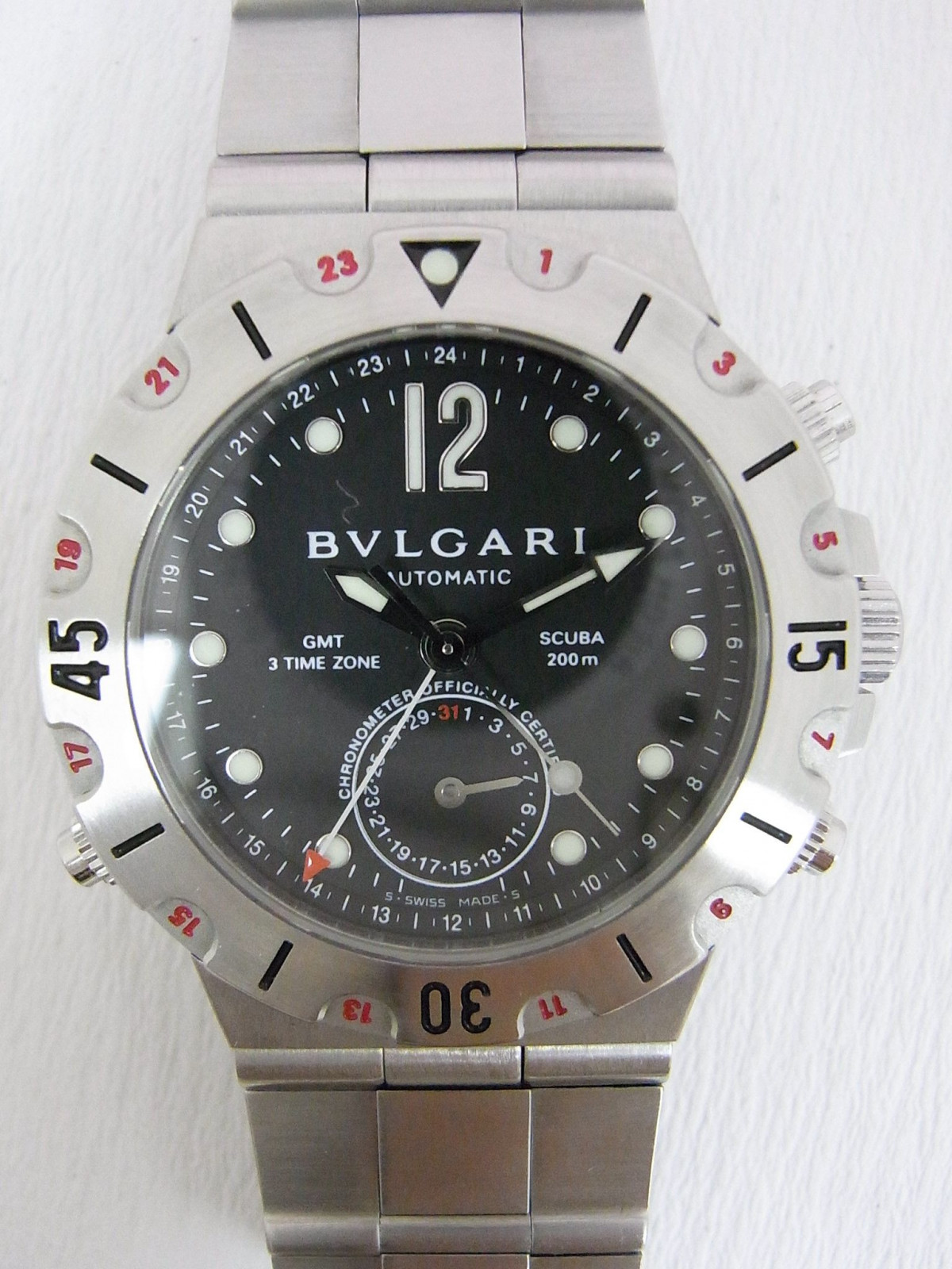 77c8fb996c7 Bvlgari Diagono SD38SGMT relógio usados (€328) - Timepeaks