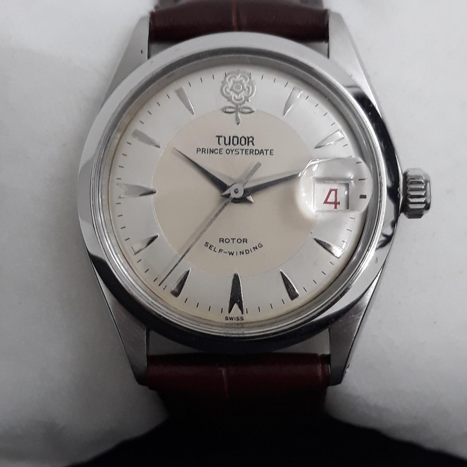 d456ec6812b Tudor Rare Roleta Date - Prince Oysterdate - Big Rose 7963 relógio usados  (€702) - Timepeaks