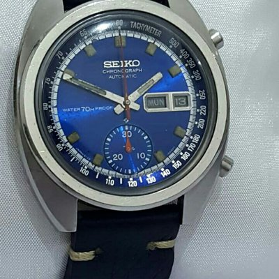 セイコー Vintage chronograph with blue dial Ref.6139-6010