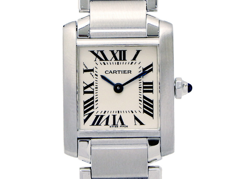 29b8e98d145 Pre-owned Cartier Tank francaise W51008Q3 watch ( 1