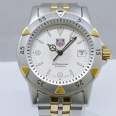 26329444dd085 Tag Heuer 200 mProfessional WD1221-K-20 Quartz Silver Gold two tone pawn  shop