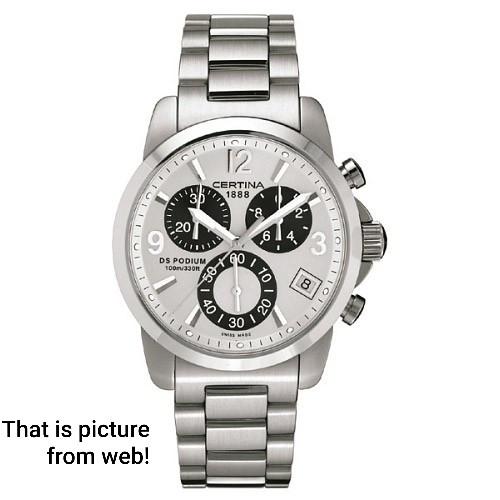 757189b87eb Certina DS Podium cronógrafo suíço masculino watch relógio usados (€258) -  Timepeaks