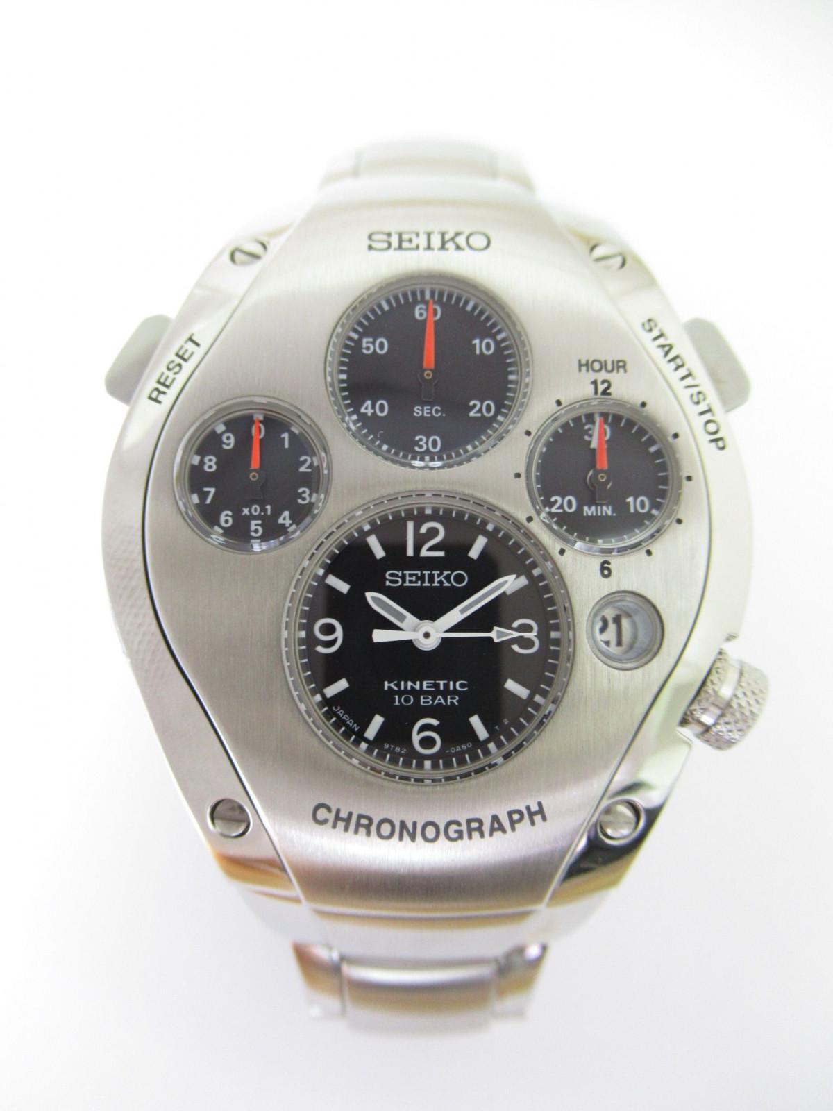1c8a98d14f2b Relojes Seiko Kinetic cronógrafo 3rd model 9T82-0A50 SBCG001 de ...