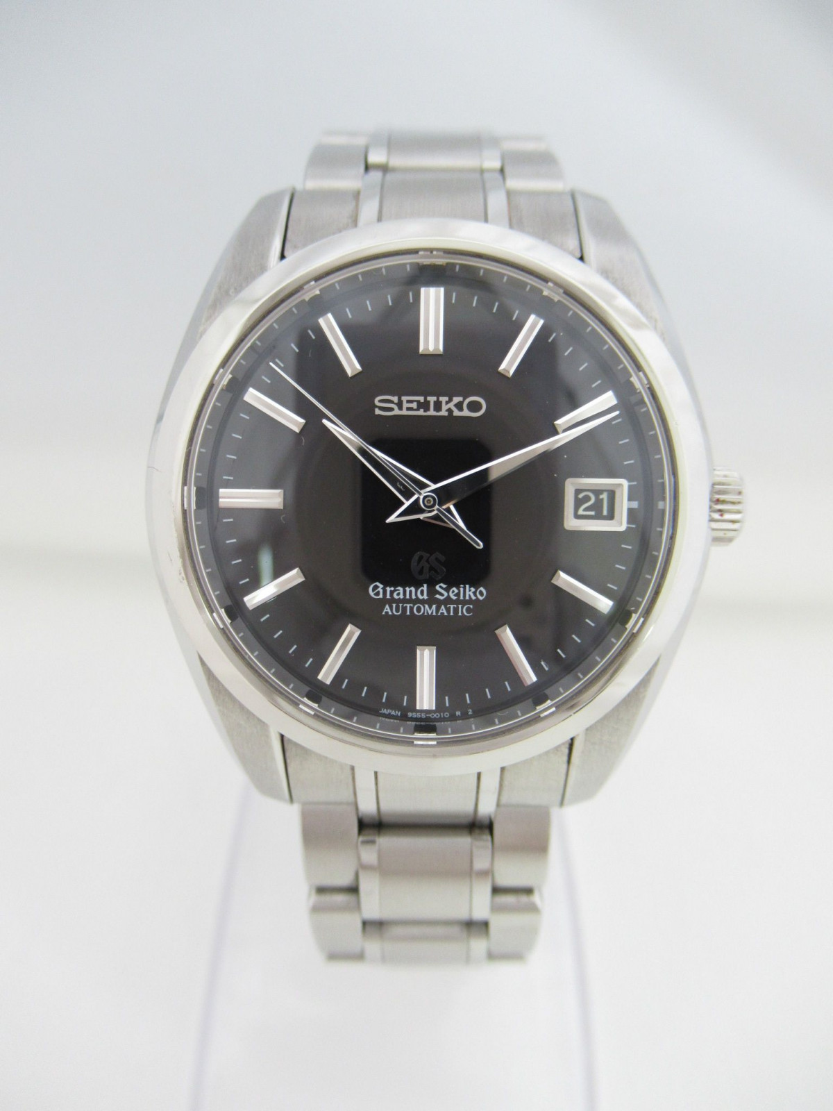 separation shoes 64b61 05adf Pre-owned Grand Seiko Mechanical Black Dial 9S55-0010 ...